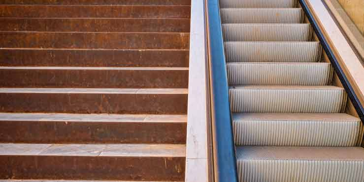 Campaigns to increase public use of stairs rather than elevators or escalators.
